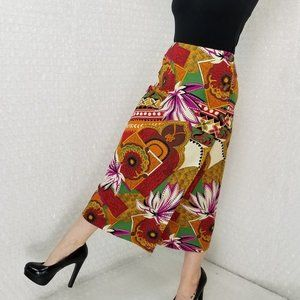 Vintage 1990s Harris/Wallace tribal wrap skirt